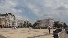 Sofia Square in Kiev Ukraine Stock Footage