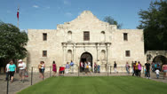 Stock Video Footage of tourists visit the alamo on a sunny day, san antonio, texas, usa