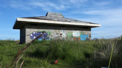 Derelict Building with graffiti - stock footage