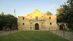 The Alamo, tourists visiting the alamo, san antonio, texas - stock footage
