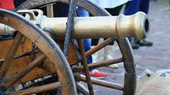 Artillery cannon Stock Footage