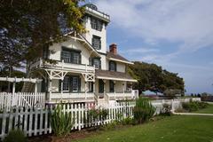 point fermin lighthouse - stock photo