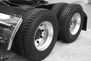 Stock Photo of truck tire