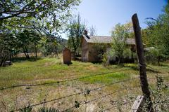 nineteenth century ruins in lincoln, new mexico - stock photo
