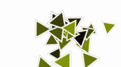 Green triangles card mosaics flying,abstract math geometry. Stock Footage