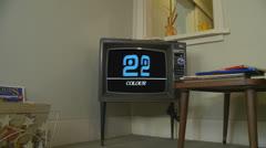 BBC2 Ident 1972 on old TV Stock Footage