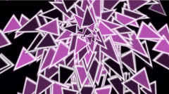 Color triangles card mosaics flying,abstract math geometry. Stock Footage