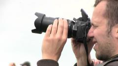 Photographer close up - stock footage