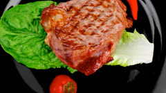 Barbecued meat : beef Stock Footage