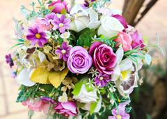 Decoration artificial flower Stock Photos