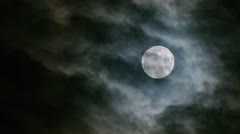 real Full Moon night clouds creepy no CG 24P - stock footage