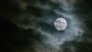 Stock Video Footage of real Full Moon night clouds creepy no CG 24P