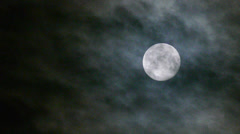 Real Full Moon night clouds creepy no CG 24P Stock Footage