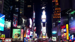 Times Square at night. Time lapse. Stock Footage