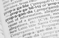 Stock Photo of macro image of dictionary definition of propaganda