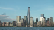 Stock Video Footage of Freedom Tower and Lower Manhattan Skyline 3