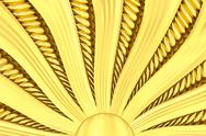 Gold sunburst background with rays and beams Stock Illustration