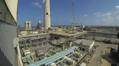 Gas electricity power station global warming environmental pollution carbon Stock Footage