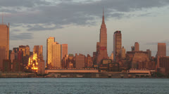 Empire State Building and New York City Skyline 1 Stock Footage