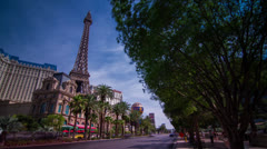 Traffic of People and Automobile on The Strip - stock footage