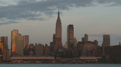 Empire State Building and New York City Skyline 2 Stock Footage