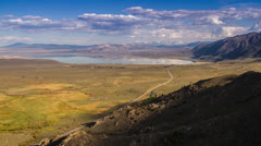 Shadow of Clouds Formation over Mono Lake Stock Footage