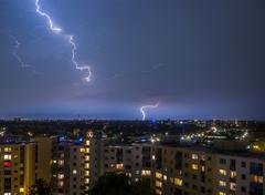 Stock Photo of Hamburg Thunderstorm Lightning