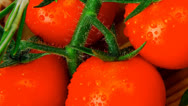 Vegetables on cutting board Stock Footage
