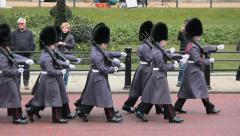 London - Changing of the guard - Buckingham Palace 2 Stock Footage
