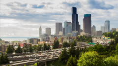 Afternoon Freeway Traffic Time Lapse Stock Footage