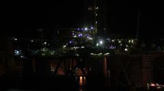 Maltese impressions - harbor at night Stock Footage