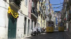Tram Lisbon Stock Footage