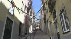 Stairs in Lisbon Stock Footage