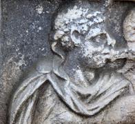 Roman stone monument emperor ostia antica italy Stock Photos