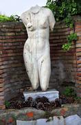 Ancient roman nude woman statue ostia antica rome italy Stock Photos