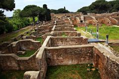 Ancient roman ruins ostia antica rome italy Stock Photos