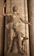 ancient diana statue sculpture capitoline museum rome italy - stock photo