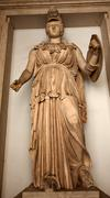 ancient minerva statue roman goddess capitoline museum rome italy - stock photo
