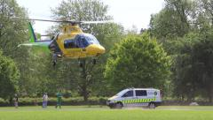 Air ambulance Stock Footage