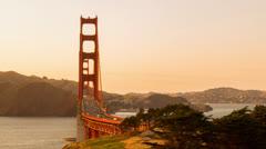 Time Lapse Traffic on Golden Gate Bridge Stock Footage