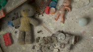Stock Video Footage of toys in an abandoned kindergarten