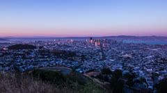 Day to Night Time Lapse of San Francisco Stock Footage
