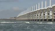 Stock Video Footage of Storm surge barrier