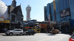 Clifton Hill Niagara - stock footage