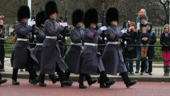 London - Changing of the guard - Buckingham Palace 7 Stock Footage
