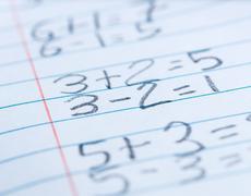 math problems - stock photo