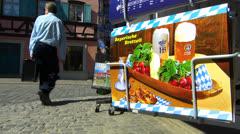 Germany Bavaria Franconia Bamberg postcard display for sale - stock footage