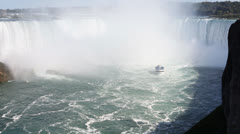 Maid Of The Mist Niagara Falls Stock Footage