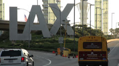 LAX Entrance - stock footage