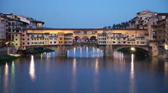 Ponte Vecchio stone bridge in Florence, Italy Stock Footage